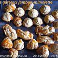 Petits gâteaux jambon et mimolette