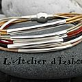 <b>Multicolore</b>, fin et racé ce <b>bracelet</b> multirangs en cuir et ses longs passants de métal argenté donnera de la personnalité !