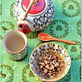 Compote pommes-clémentines à la cannelle et son crumble à la poêle (atelier goûters maison)