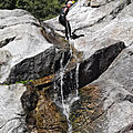 Canyoning à l'<b>AS</b> Montagne / Sports Nature du Lycée Jean-Moulin de Béziers
