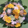 Bouquet rond avec Chou et Oeillet