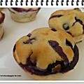 Petits cakes aux myrtilles ww