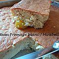 [pause sucrée] gâteau fromage blanc/mirabelles