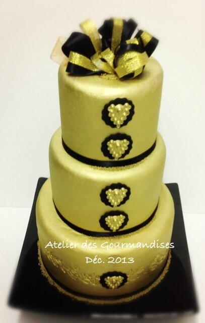 nina couto wedding cake doré