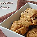Biscuits au beurre d'arachide et au chocolat, sans gluten et sans lactose