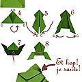Fait à la maison: origami grenouille