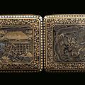 A <b>cigarette</b> <b>case</b> with 9 carats gold niello, Japan, Meiji Period (1868-1912)