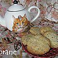 Biscuits français au thé amanda rose et vieux grimoire