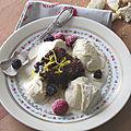 Compotée de fruits secs et glace vanille