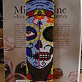 Marque page sugar skull guadelupe
