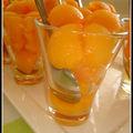 Verrine de melon au muscat de rivesalte