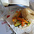 Bagel fromage courgette et carotte (végétarien)