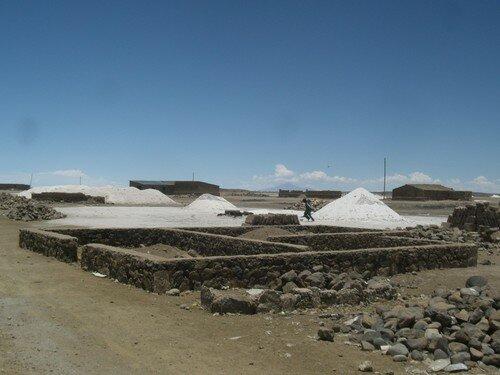 Salar Uyuni, préparation du sel