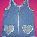 Robe en jean pour petite amoureuse de 18 mois