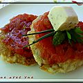 Tarte tatin de tomates et glace à la moutarde