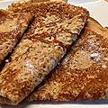 Crêpe a la <b>farine</b> de <b>châtaigne</b> , miel et lait de chèvre