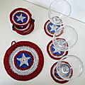Tutorial : captain america coasters