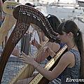 LORIENT / Festival interceltique 2013. Duo de harpes.