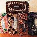 Boites à mouchoir et accessoires de toilettes