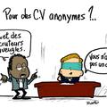 Les CV anonymes...
