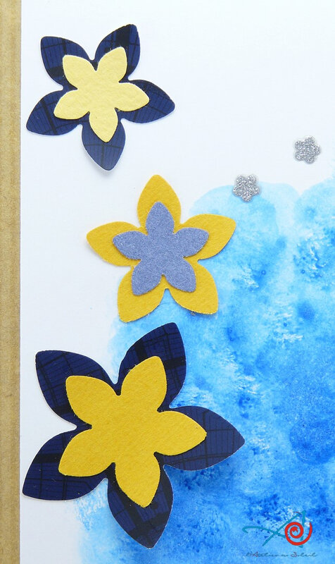 Carte nuage bleu - détail fleurs L'Atelier au soleil