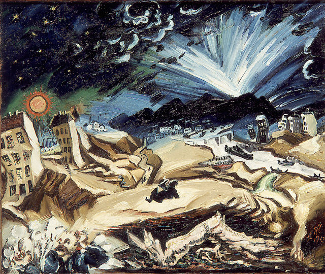 Ludwig Meidner, Paysage apocalyptique, 1913