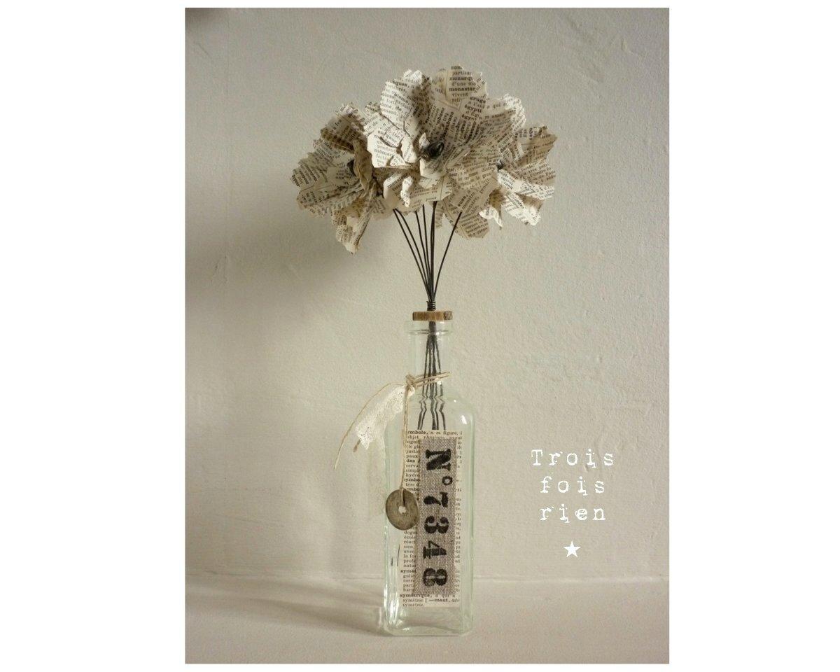 Fiole et fleurs papier N°23 (1)