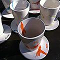 Nouveau ! tasses & sous-tasses