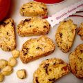 Biscottis chocolat orange noisette