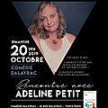A votre agenda : <b>rencontre</b> avec ADELINE PETIT à la Comédie Dalayrac le 20 octobre, Paris #developpementpersonnel