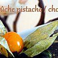 Bûche pistache / chocolat