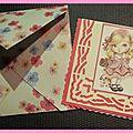 marque page fillette rose avec enveloppe