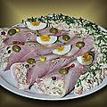 Cornets de jambon à la Russe ou salade <b>Olivier</b> !