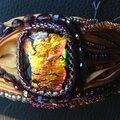 bracelet soie orange 2