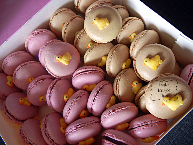 macarons poussin boite prunillefee