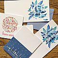 C'est nouveau et de saison! de jolies cartes de voeux !
