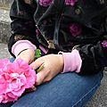 Le retour du <b>velours</b> - Bomber Frosty Roses