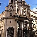 Trevi Quirinal, un quartier de perles baroques (8/17). Le carrefour des Quatre Fontaines et San Carlino.