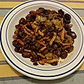 Salade de fèves vapeur au cumin et citron confit aux lardons