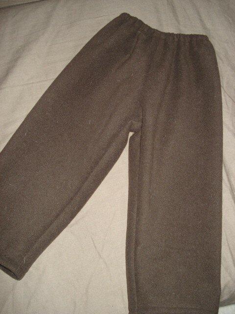 Pantalon Archibald polaire chocolat