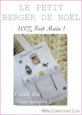 epingles marimerveille le petit berger de Noël 2