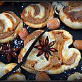 Palmiers feuilletés à la pâte au spéculos et noisette