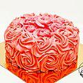 Le rose cake d'anniversaire