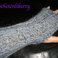 Mitaines en mohair au tricotin knifty knitter