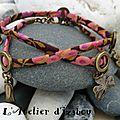 Vous aimez les <b>breloques</b> ? Vous aimez les bijoux couleurs bronze ?! Alors vous aimerez ce bracelet en cordon liberty !