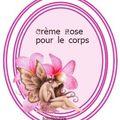 Etiquettes de la crème rose