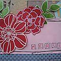 Carton et fleurs