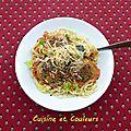 Spaghetti aux <b>boulettes</b> d'hiver pour la Belle et le Clochard