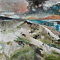 Nouveaux petits paysages sur bois, 15x15x4 cm