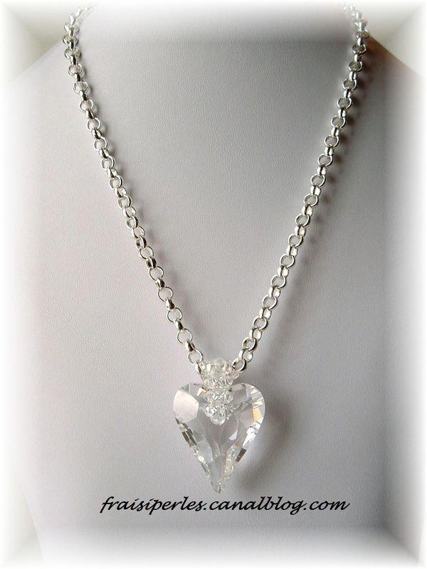 collier Coeur en cristal
